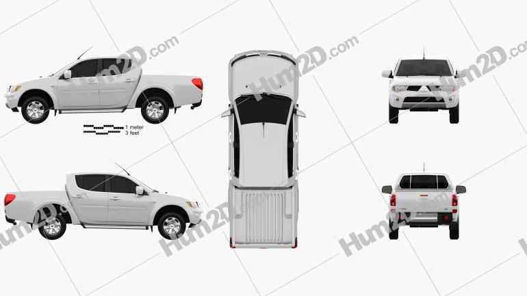 Mitsubishi L200 Triton Doppelkabine 2012 car clipart