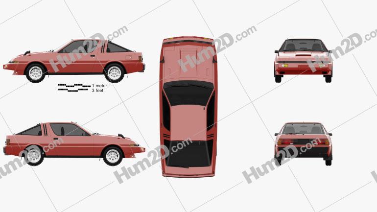 Mitsubishi Starion Turbo GSR III 1982 car clipart