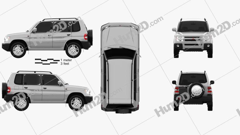 Mitsubishi Pajero Pinin (iO) 1998 Clipart Image