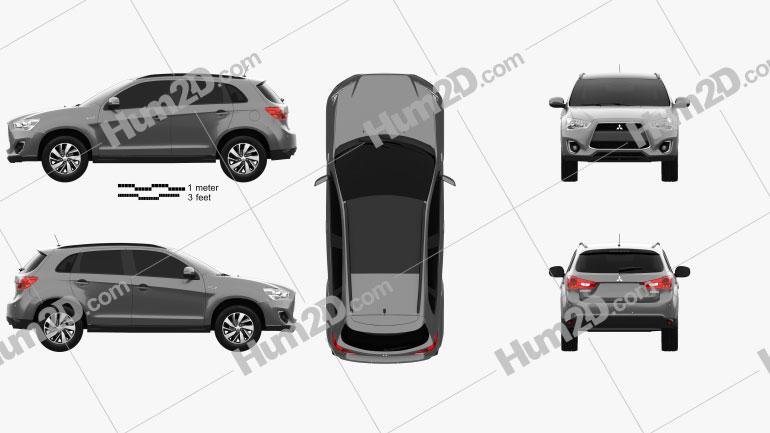 Mitsubishi ASX (RVR) 2013 Clipart Image