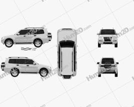 Mitsubishi Pajero (Montero) Wagon 2015 car clipart