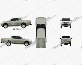 Mitsubishi L200 Triton Double Cab 2015 car clipart