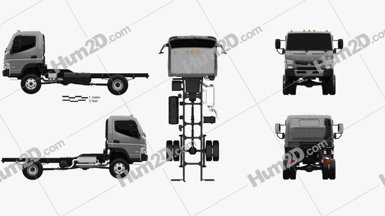 Mitsubishi Fuso Canter Chassis Truck 2013 clipart