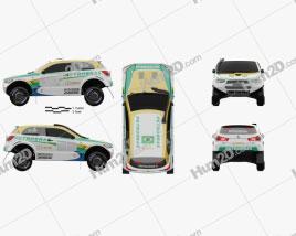 Mitsubishi ASX Dakar Racing 2014 car clipart