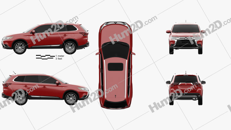 Mitsubishi Outlander 2015 car clipart
