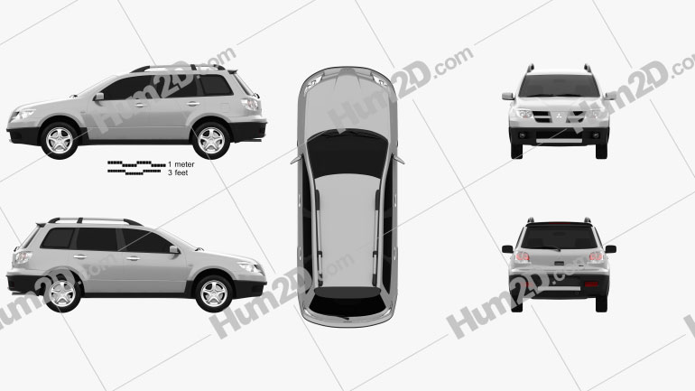 Mitsubishi Outlander 2003 car clipart