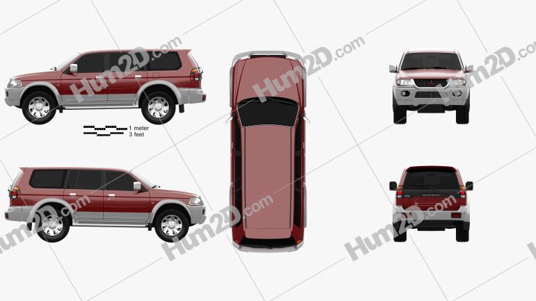 Mitsubishi Pajero Sport 1996 car clipart