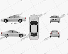 Mitsubishi Diamante 2004 car clipart
