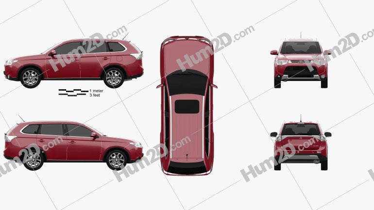 Mitsubishi Outlander 2014 car clipart