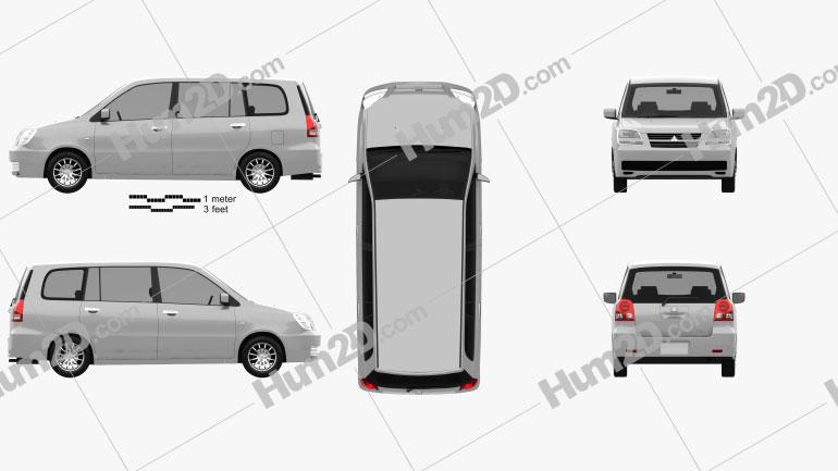Mitsubishi Dion 2000 clipart
