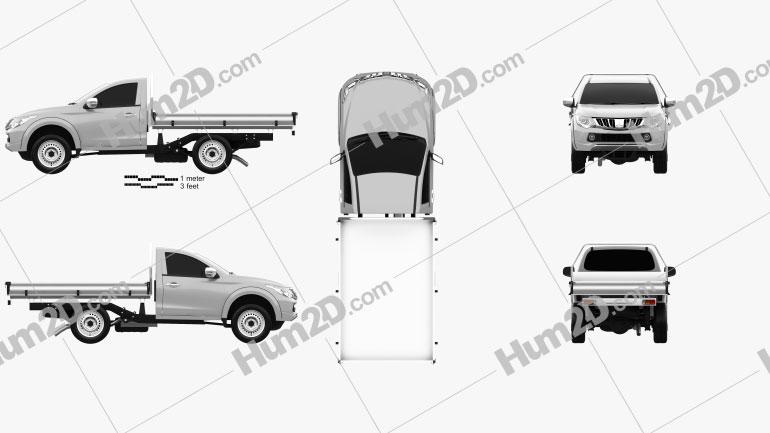 Mitsubishi Triton Single Cab Alloy Tray 2015 car clipart