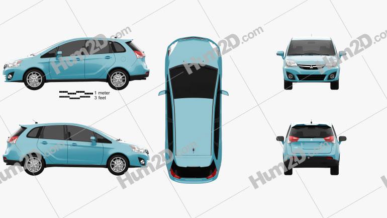 Mitsubishi Colt Plus (TW) 2013 car clipart