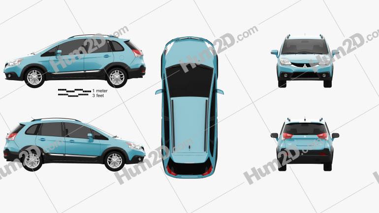 Mitsubishi Colt Plus X-Sports (TW) 2015 car clipart