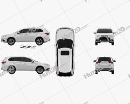 Mitsubishi Outlander PHEV 2015 car clipart