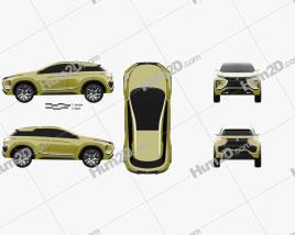 Mitsubishi eX 2015 car clipart