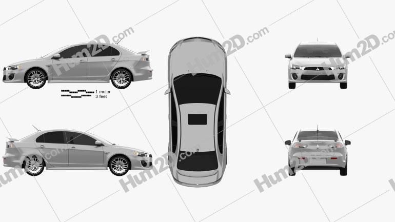 Mitsubishi Lancer GT 2016 car clipart