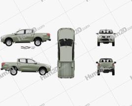 Mitsubishi Triton Double Cab with HQ interior 2015 car clipart