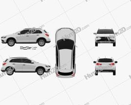 Mitsubishi Outlander Sport 2016 car clipart