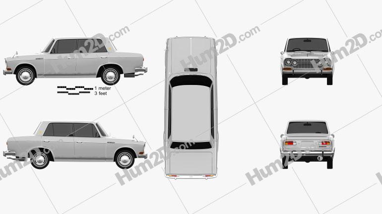 Mitsubishi Colt 1500 1965 car clipart