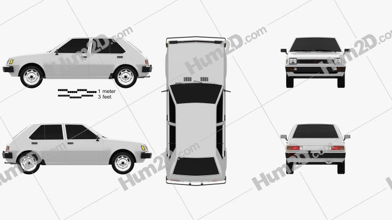 Mitsubishi Colt (Mirage) 1978 car clipart