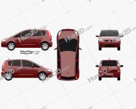 Mitsubishi Colt 2002 car clipart