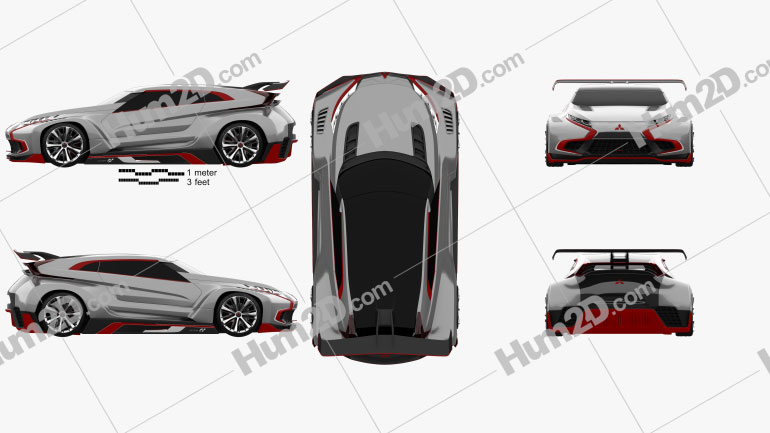 Mitsubishi XR-PHEV Evolution Vision Gran Turismo 2016 car clipart