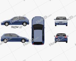 Mitsubishi Colt 3-door hatchback 1998