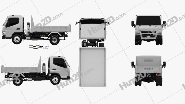 Mitsubishi Fuso Canter Tipper Truck 2010 clipart