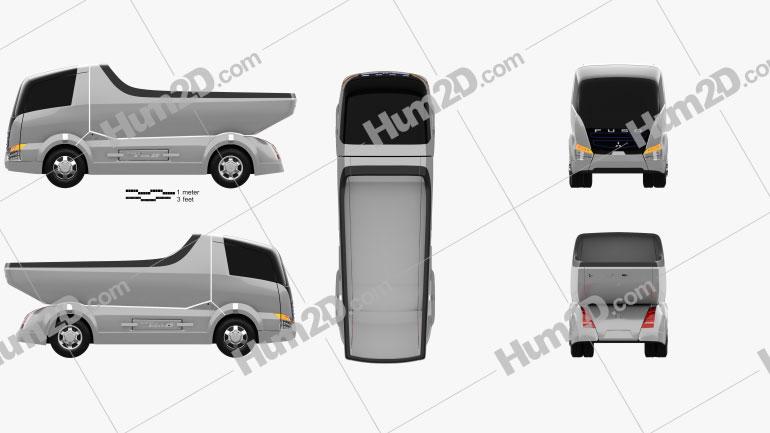 Mitsubishi Fuso Canter Eco D Hybrid Truck 2007 clipart