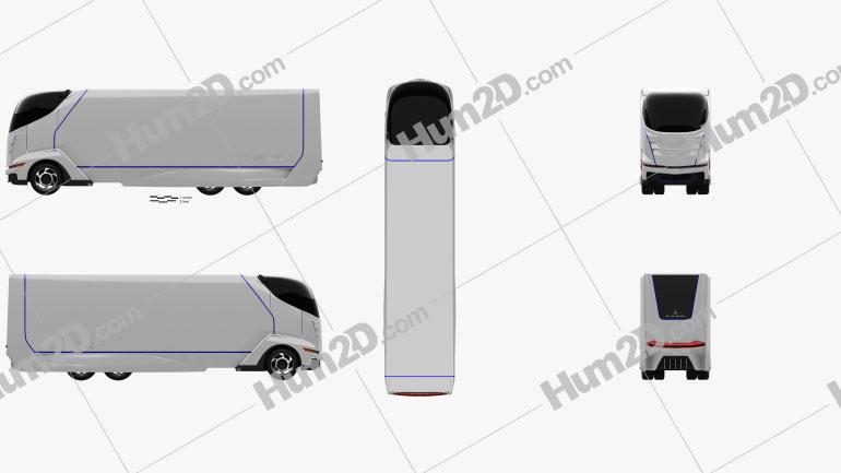 Mitsubishi Fuso Concept II Truck 2012 clipart