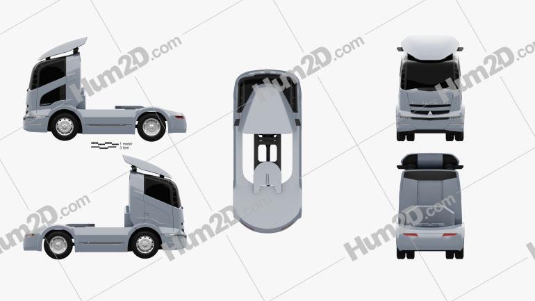 Mitsubishi Fuso Tractor Truck 2004 clipart