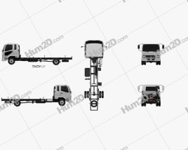 Mitsubishi Fuso Heavy Chassis Truck 2017 clipart