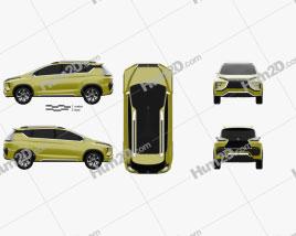 Mitsubishi XM 2016 clipart