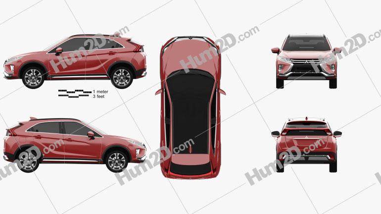 Mitsubishi Eclipse Cross 2017 car clipart
