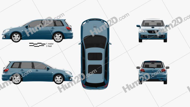 Mitsubishi Airtrek Turbo R 2002 car clipart