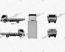 Mitsubishi Fuso Canter 515 Wide Single Cab Alloy Tray Truck 2016