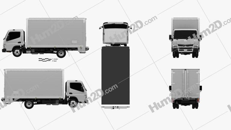 Mitsubishi Fuso Canter 515 Wide Single Cab Pantech Truck 2016 clipart