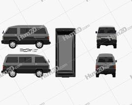 Mitsubishi Delica Star Wagon 4WD GLX 1982 clipart