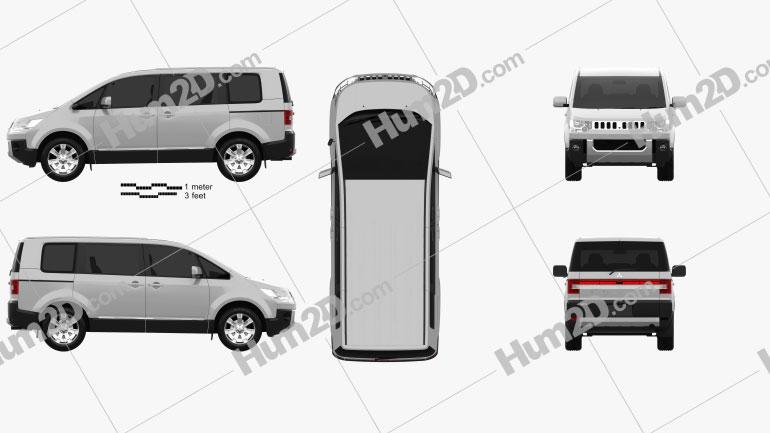 Mitsubishi Delica D5 2007 Clipart Bild