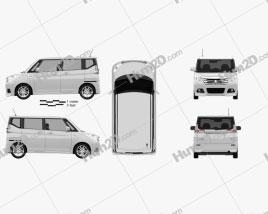 Mitsubishi Delica D2 2015 clipart