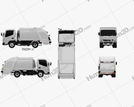 Mitsubishi Fuso Canter Shinmaywa Garbage Truck 2017