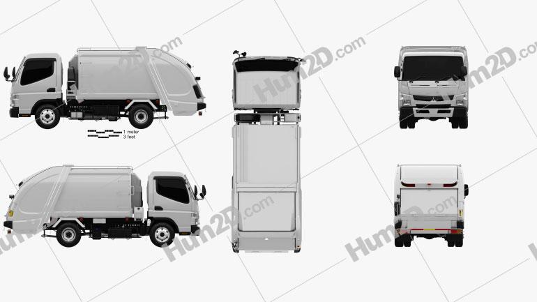 Mitsubishi Fuso Canter Shinmaywa Garbage Truck 2017 clipart
