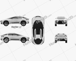 Mitsubishi E Evolution 2018 car clipart