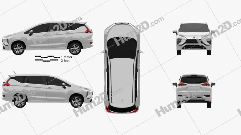 Mitsubishi Xpander Sport 2017 Clipart Image
