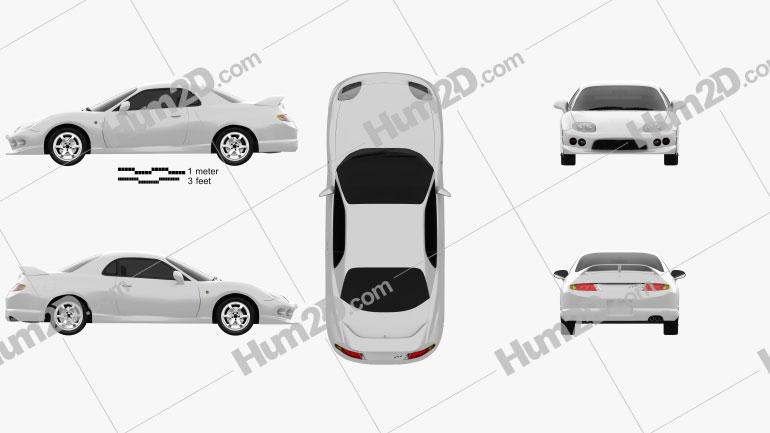 Mitsubishi FTO GPX Version R 1997 car clipart