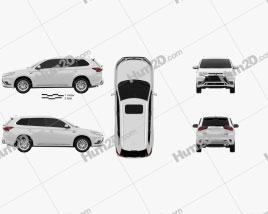 Mitsubishi Outlander PHEV 2018 car clipart