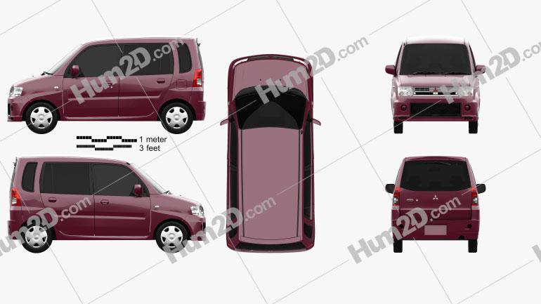 Mitsubishi Toppo 2008 car clipart