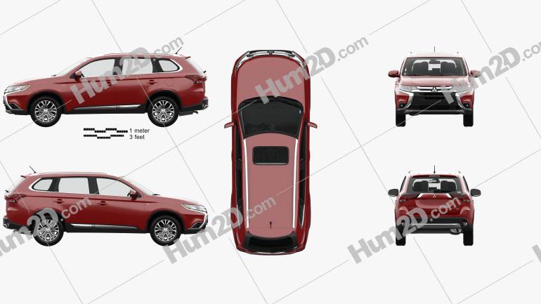 Mitsubishi Outlander GT with HQ interior 2015 car clipart