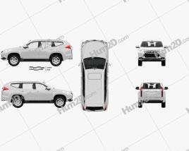 Mitsubishi Pajero Sport with HQ interior 2016 car clipart
