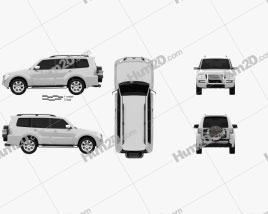 Mitsubishi Pajero 5-door CN-spec 2018 car clipart